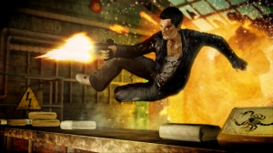 Wei Shen taking the fight to the Bad Guys in Sleeping Dogs