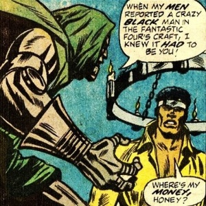 Cage and Dr Doom face off in one of his few memorable early encounters